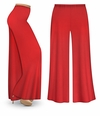 CLEARANCE! Red Wide Leg Palazzo Pants in Slinky, Velvet or Cotton Fabric - Plus Size & Supersize  2x