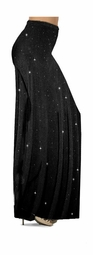 SOLD OUT! CLEARANCE! Ribbed Glimmer Vertical Lines Slinky Print Plus Size & Supersize Palazzo Pants 7x
