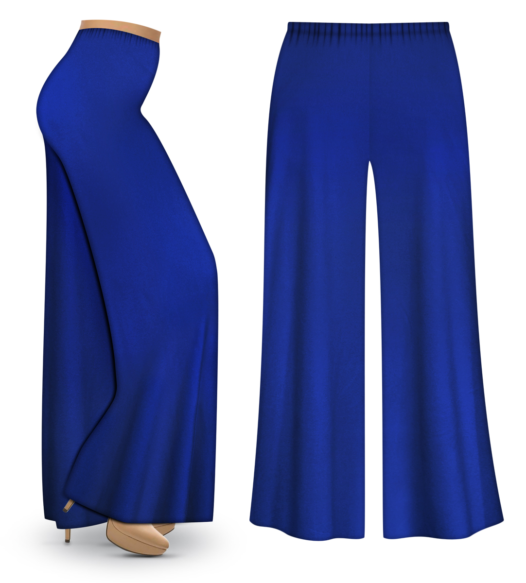 CLEARANCE! Royal Blue Wide Leg Palazzo Pants in Slinky, Velvet or ...