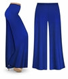 CLEARANCE! Royal Blue Wide Leg Palazzo Pants in Slinky, Velvet or Cotton Fabric - Plus Size & Supersize LG 4x
