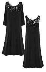 CLEARANCE SALE! Gorgeous Slinky or Velvet Sparkly Rhinestone Starry Night Plus Size Dresses 2x 3x  7x