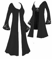 SOLD OUT! Gorgeous Slinky Sparkly Rhinestone Starry Night Plus Size Jackets & Dusters XL