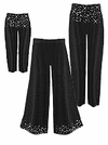 CLEARANCE! Gorgeous Slinky or Velvet Sparkly Rhinestone Starry Night Plus Size Pants - Leggings - Palazzo 0x 2x