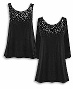 CLEARANCE SALE! Gorgeous Slinky or Velvet Sparkly Rhinestone Starry Night Plus Size Tops & Tanks 2x 3x
