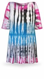 SOLD OUT! CLEARANCE! Seismic Ombre Tie Dye Plus Size & Supersize X-Long T-Shirt 8x