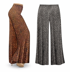 CLEARANCE! Shimmery Leopard Slinky Print Plus Size & Supersize Leggings 2x