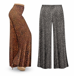 FINAL CLEARANCE SALE! Shimmery Leopard Slinky Print Plus Size & Supersize Leggings 2x