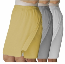 SOLD OUT!  CLEARANCE! Soft Plus-Size Light Yellow, White or Grey Elastic-Waist Skort 5x 6x