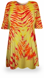 SOLD OUT! CLEARANCE! Solar Flare Tie Dye Plus Size T-Shirt 5XL