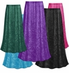 CLEARANCE! Plus Size Solid Color Crush Velvet Skirt 0x 1x 2x 3x 4x 5x 7x 8x