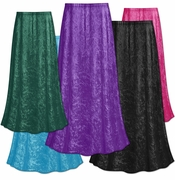 CLEARANCE! Solid Color Crush Velvet Plus Size Supersize Skirt 0x 1x 2x 3x 4x 7x