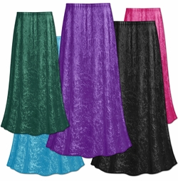 FINAL CLEARANCE SALE! Plus Size Solid Color Crush Velvet Skirt 0x 1x 3x 4x 5x 7x 8x