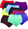 CLEARANCE! Plus Size Solid Color Spandex Swimsuit Bottoms 0x 1x 2x