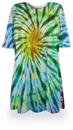 SOLD OUT! FINAL SALE! Spring Meadows Tie Dye Plus Size & Supersize X-Long T-Shirt