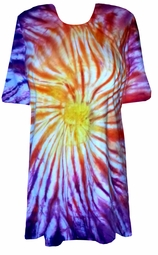 SOLD OUT! CLEARANCE! Sunset Swirl Tie Dye Plus Size & Supersize X-Long T-Shirt 4x