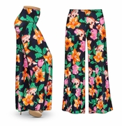 CLEARANCE! Sweet Lilies Slinky Print Plus Size & Supersize Palazzo Pants 3x