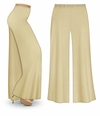 SOLD OUT! CLEARANCE! Tan or Cream Wide Leg Palazzo Pants in Slinky, Velvet or Cotton Fabric - Plus Size & Supersize 2x