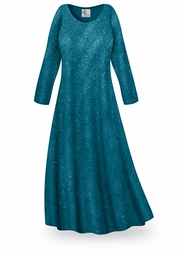 SOLD OUT! Teal Glitter Slinky Plus Size & Supersize Dress