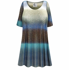 CLEARANCE! Plus Size Tide Glimmer Slinky Print Tops 2x