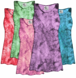 CLEARANCE! Tie Dye Plus Size Spandex Tank Tops! Plus Size & Supersize 2x