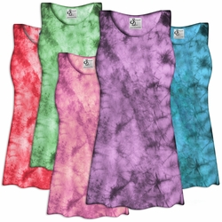 SOLD OUT! CLEARANCE! Tie Dye Plus Size Spandex Tank Tops! Plus Size & Supersize 2x