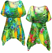 CLEARANCE! Tropical Gardens Plus Size Babydoll Top 3x 6x