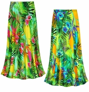 SOLD OUT! CLEARANCE! Tropical Gardens Slinky Print Plus Size Supersize Skirt 2x