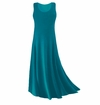 CLEARANCE! Plus Size Teal Slinky Tank Dress 1x