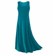 CLEARANCE! Teal Slinky Plus Size & Supersize Tank Dress 1x