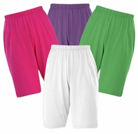 SALE! Poly/Cotton Knit Elastic Waist Shorts Plus Size Supersize 0x 1x 2x 3x 4x 5x 6x 7x 8x