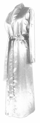 SOLD OUT! CLEARANCE! White Lightweight Plus Size Satin Robe 8x