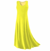 CLEARANCE! Yellow Slinky Plus Size & Supersize Tank Dress 0x 1x