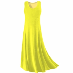 SOLD OUT! CLEARANCE! Yellow Slinky Plus Size & Supersize Tank Dress 0x