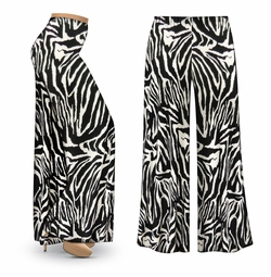 SOLD OUT! CLEARANCE! Zebra Slinky Print Plus Size & Supersize Palazzo Pants 4x