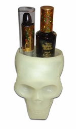 SOLD OUT! Closeout! Glow in the Dark Skull with Black Lipstick and Nail Polish