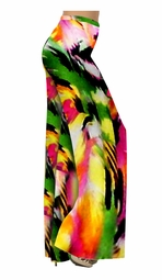 SOLD OUT!!! Colorful Pink & Green Abstract Slinky Print Special Order Customizable Plus Size & Supersize Pants, Capri's, Palazzos or Skirts! Lg to 9x