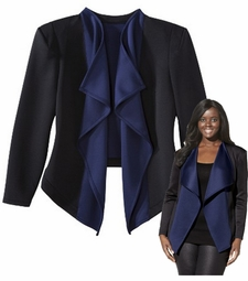 SALE! Black & Blue Colorblock Plus Size Jacket 3x
