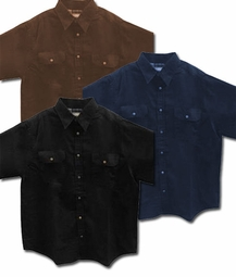 SALE! Black, Indigo, or Brown Twill Top With Snaps Plus Size Shirt Jacket Std & Tall 5x 5xT 6x 6xT