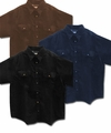 CLEARANCE! Black, Indigo, or Brown Twill Top With Snaps Plus Size Shirt Jacket Std & Tall 6x