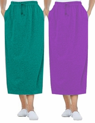 SOLD OUT!  Royal Jade Green Sport Knit Plus Size Skirt
