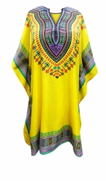 SALE! Customizable Sunny Yellow SHORT Plus Size Caftan 1x-6x