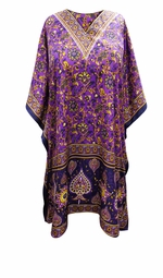 SOLD OUT! Customizable Purple Floral Print SHORT Plus Size Caftan