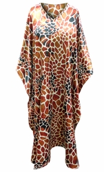 SOLD OUT! Customizable Brown Spots Animal Print Long Plus Size Caftan Dress or Shirt