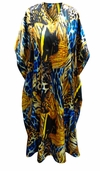 SALE! Customizable Colorful Abstract Animal Print Long Plus Size Caftan Dress or Shirt 1x-6x