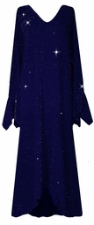 SOLD OUT! Customizable Dazzling Blue Glimmer Plus Size & Supersize Dress 1x to 9x