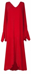 SOLD OUT!!!!!!!!! Customizable Dazzling Red Glitter Plus Size & Supersize Dress 1x to 9x