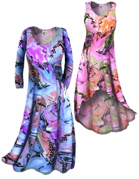 SOLD OUT! Customizable Lightweight Colorful Pink Marble Print Slinky Plus Size & Supersize Customizable A-Line or Princess Cut Dresses & Shirts, Jackets, Pants, Palazzo's or Skirts Lg XL 0x 1x 2x 3x 4x 5x 6x 7x 8x 9x