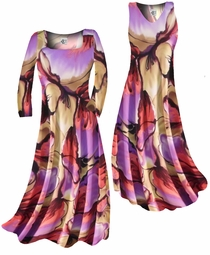 sold out!!!!!!!!! Customizable! Pretty Colorful Floraly Print Slinky Plus Size & Supersize Standard or Cascading A-Line or Princess Cut Dresses & Shirts, Jackets, Pants, Palazzo's or Skirts Lg to 9x