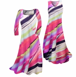 SOLD OUT! Customizable Pretty Pink Black & White Swirls Print Slinky Plus Size & Supersize Standard or Cascading A-Line or Princess Cut Dresses & Shirts, Jackets, Pants, Palazzo's or Skirts Lg to 9x