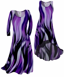 SOLD OUT! Customizable! New! Purple Slinky Swirls Yummy Slinky Plus Size & Supersize Customizable A-Line or Princess Cut Dresses & Shirts, Jackets, Pants, Palazzo's or Skirts Lg to 9x